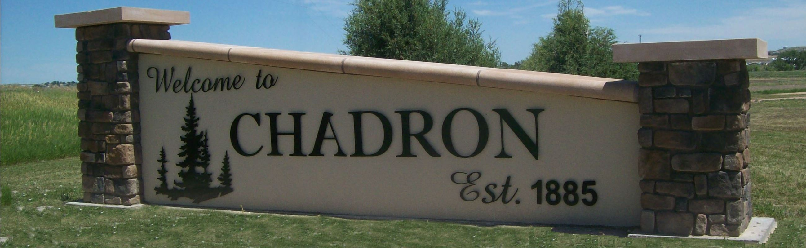 Chadron  Welcome Sign